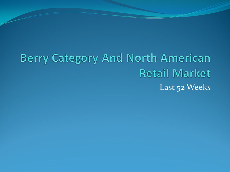 Berry Category And North American Retail Market