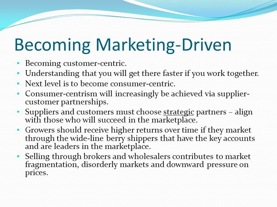 Becoming Marketing-Driven