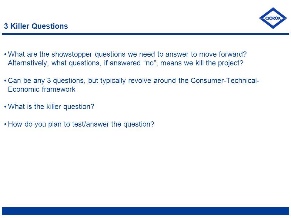 3 Killer Questions
