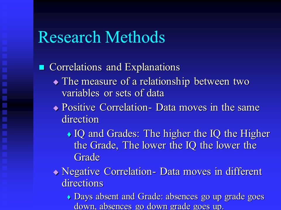 Research Methods Correlations and Explanations