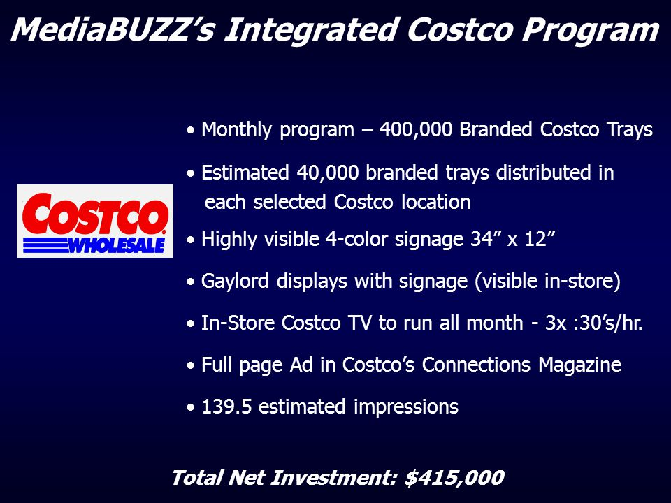 MediaBUZZ's Integrated Costco Program