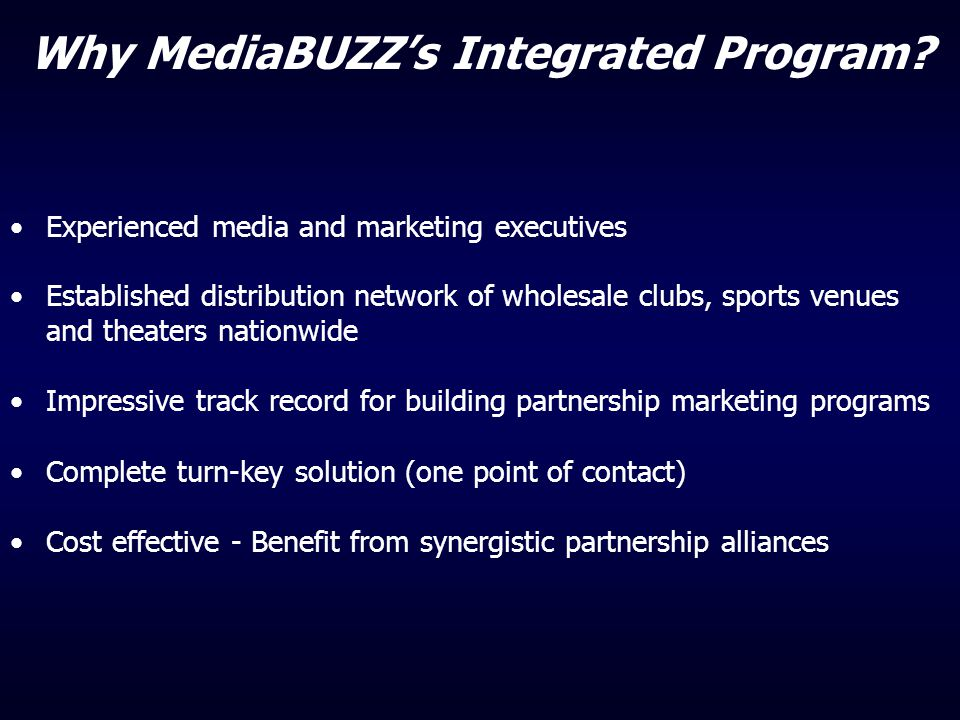 Why MediaBUZZ's Integrated Program