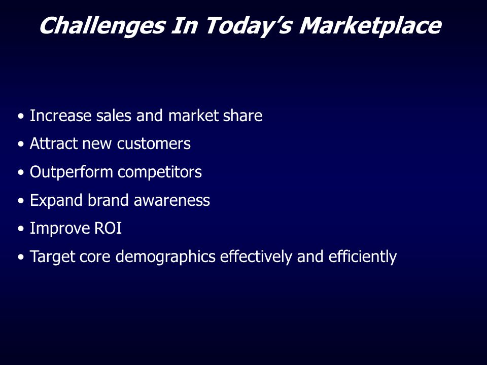 Challenges In Today's Marketplace