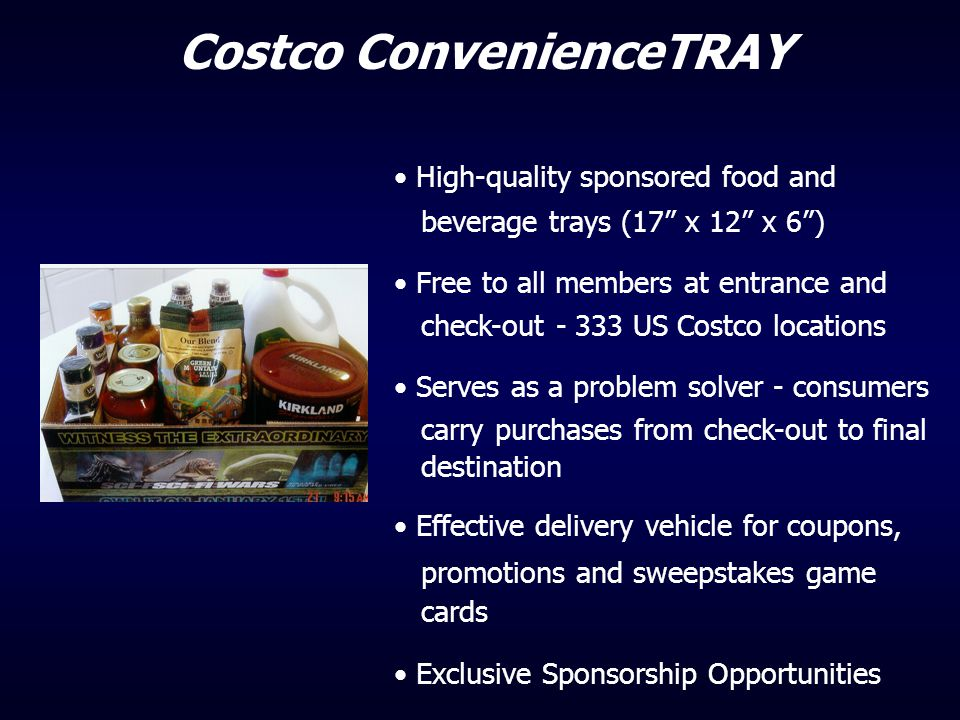 Costco ConvenienceTRAY