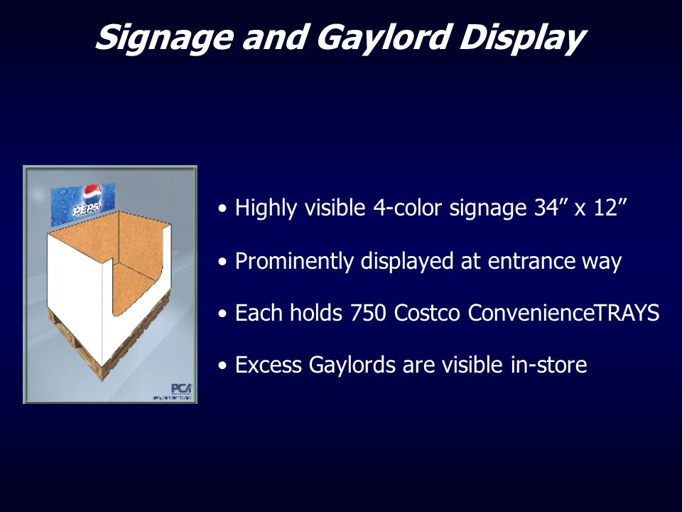 Signage and Gaylord Display