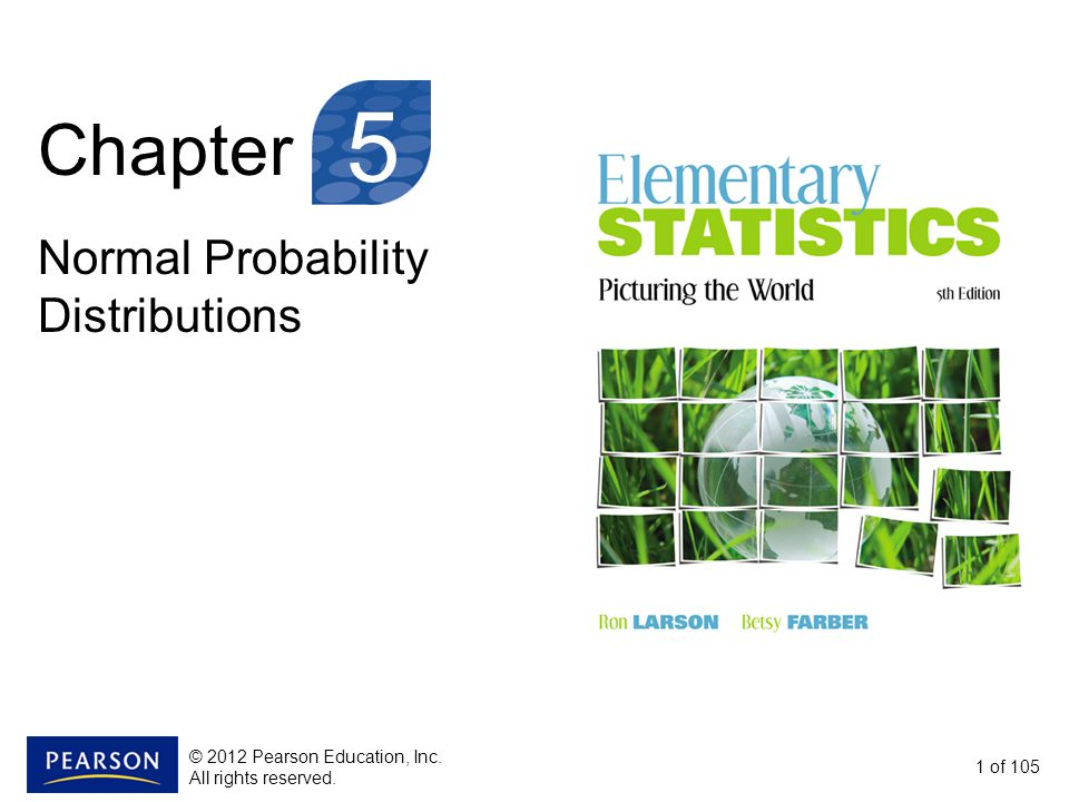 5 Chapter Normal Probability Distributions