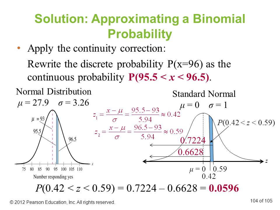 Solution: Approximating a Binomial Probability