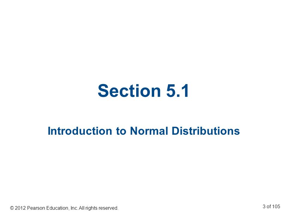 Introduction to Normal Distributions