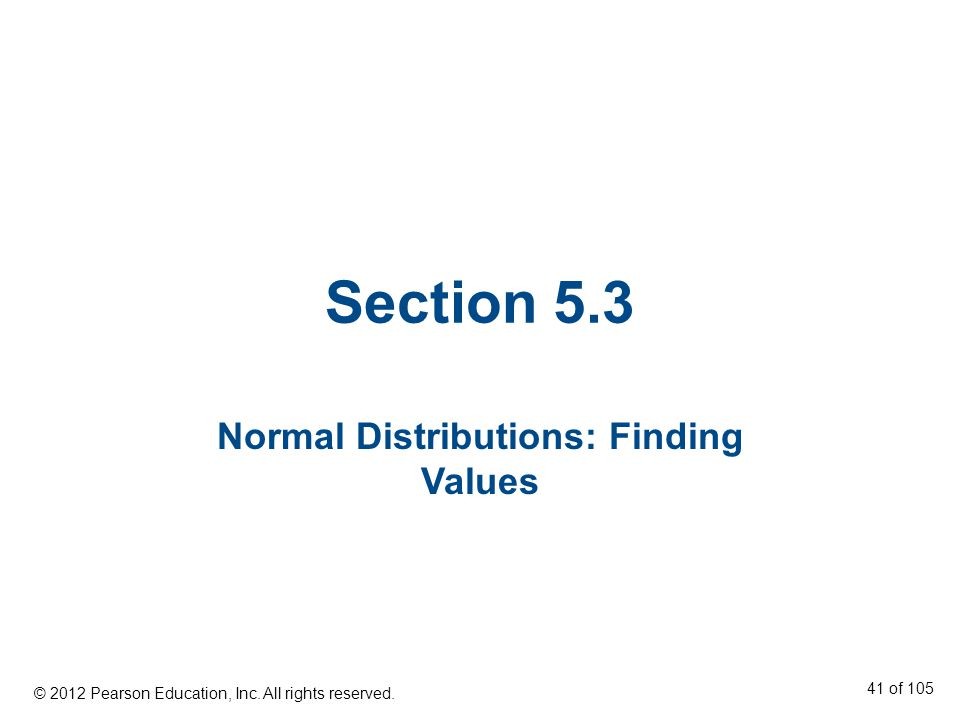 Normal Distributions: Finding Values