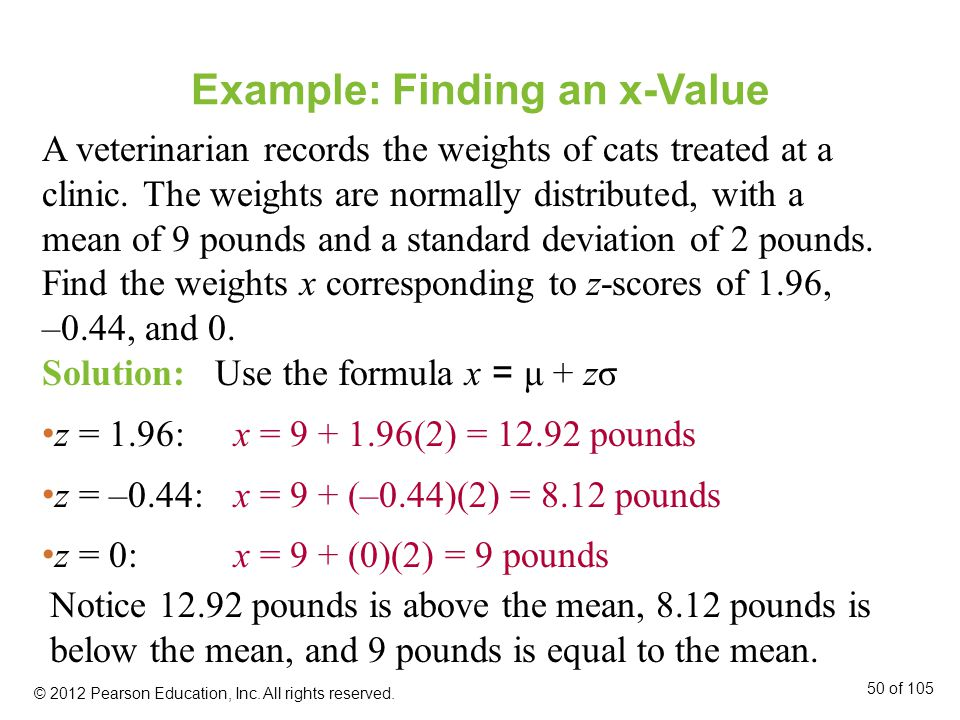 Example: Finding an x-Value