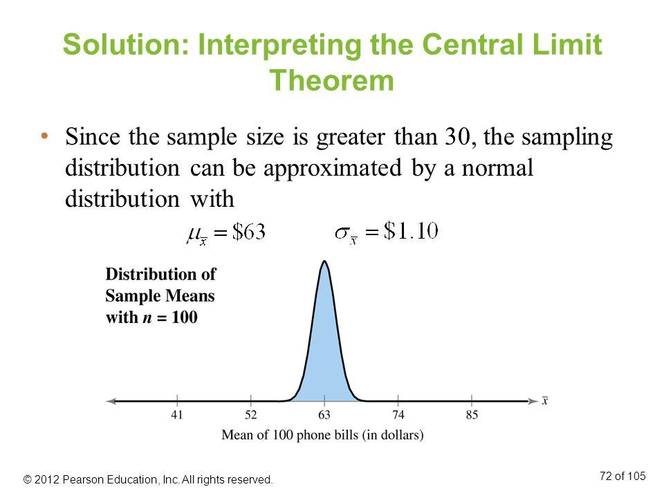 Solution: Interpreting the Central Limit Theorem