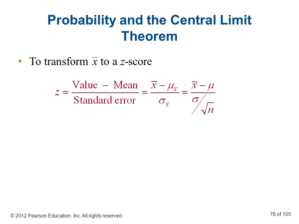 Probability and the Central Limit Theorem