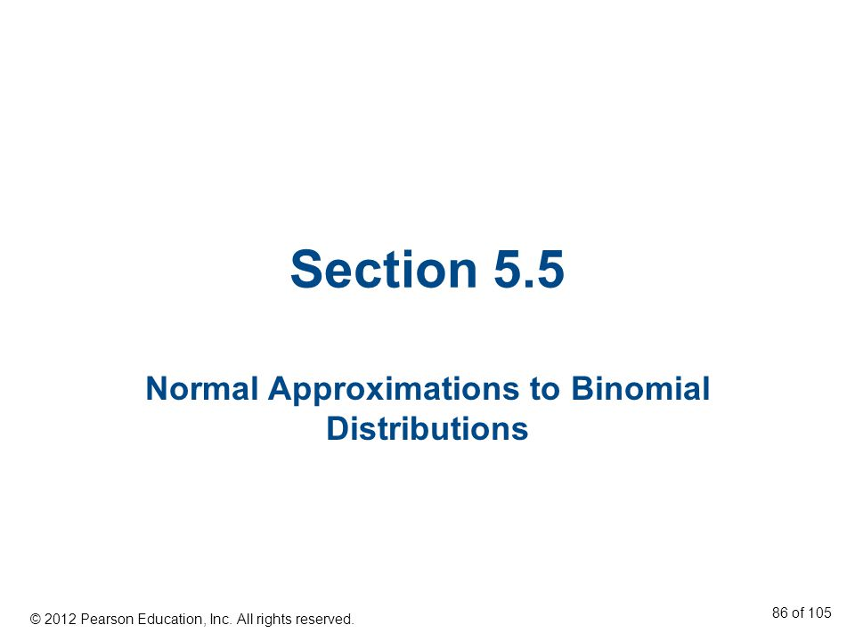 Normal Approximations to Binomial Distributions
