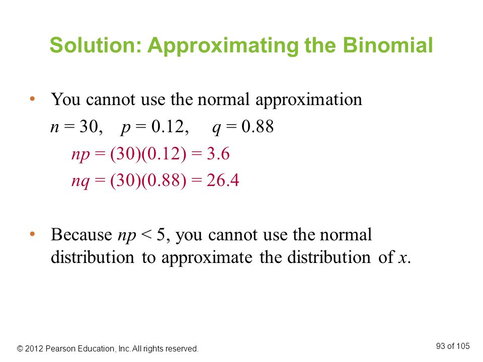 Solution: Approximating the Binomial
