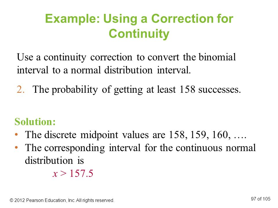 Example: Using a Correction for Continuity