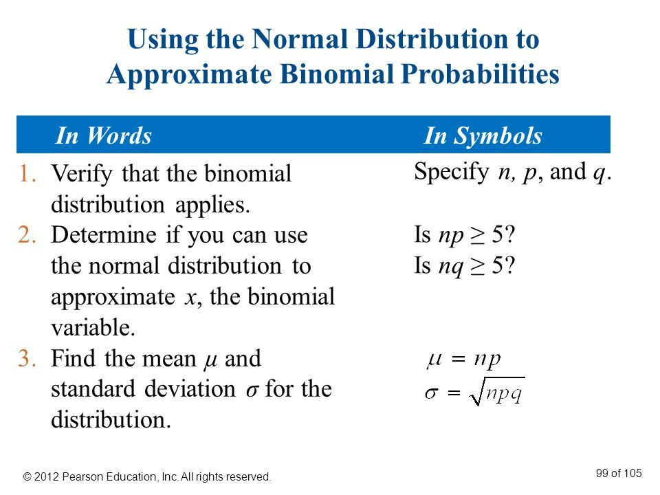 Using the Normal Distribution to Approximate Binomial Probabilities