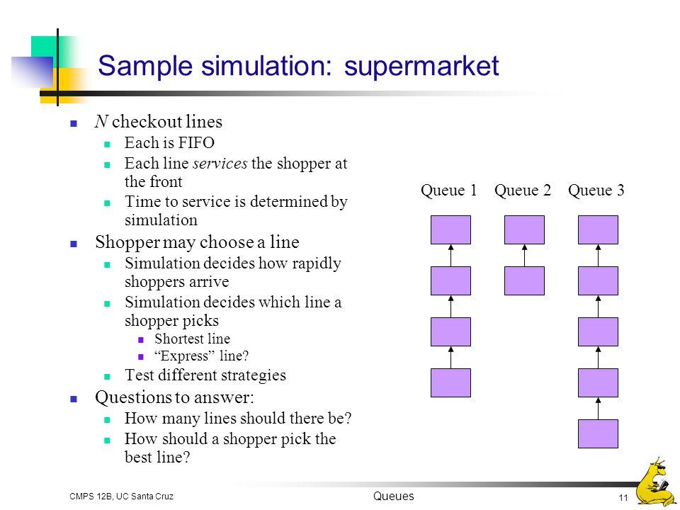 Sample simulation: supermarket