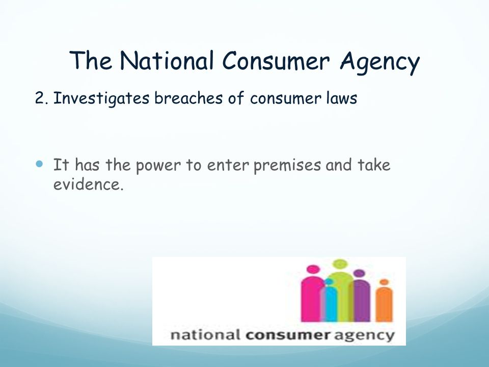 The National Consumer Agency
