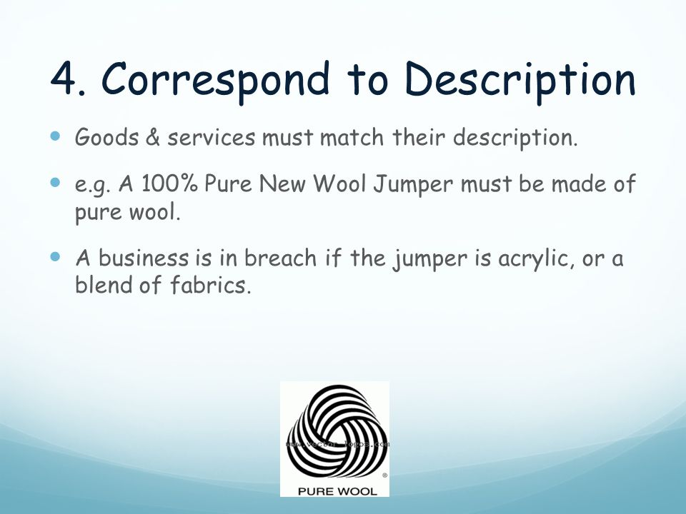 4. Correspond to Description