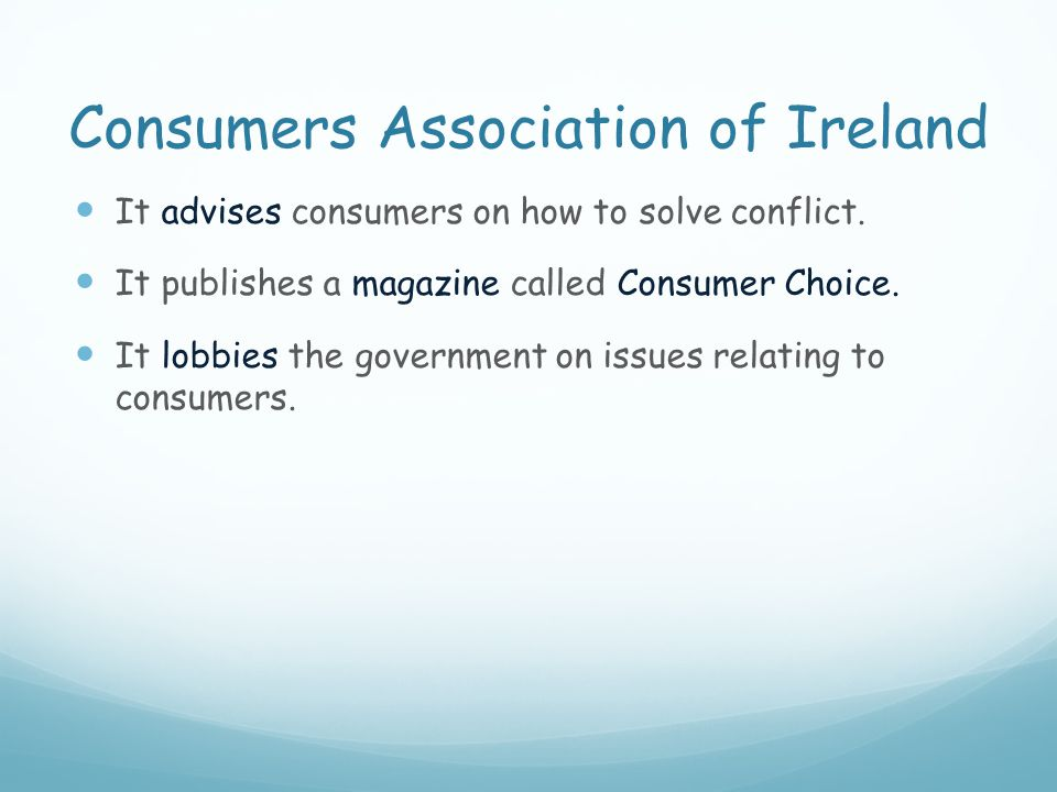 Consumers Association of Ireland
