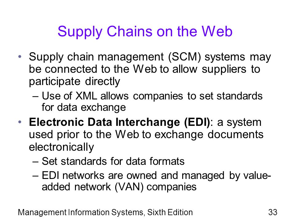 Supply Chains on the Web