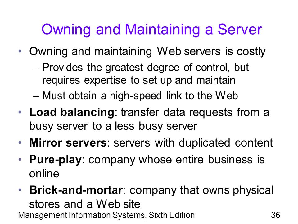 Owning and Maintaining a Server