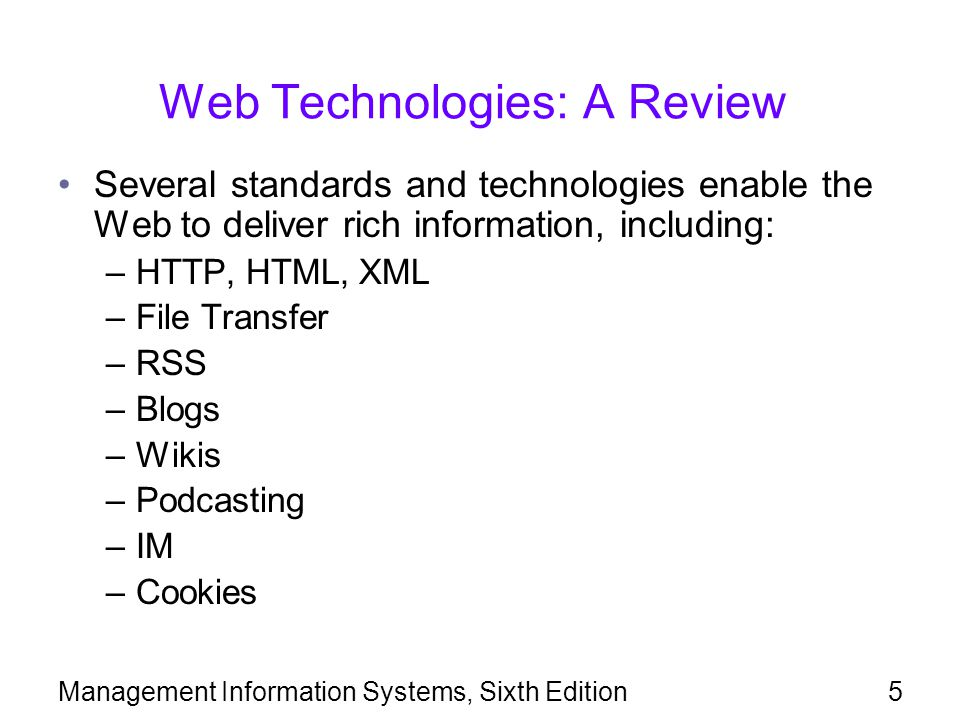 Web Technologies: A Review