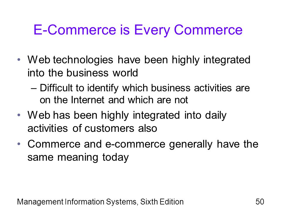 E-Commerce is Every Commerce