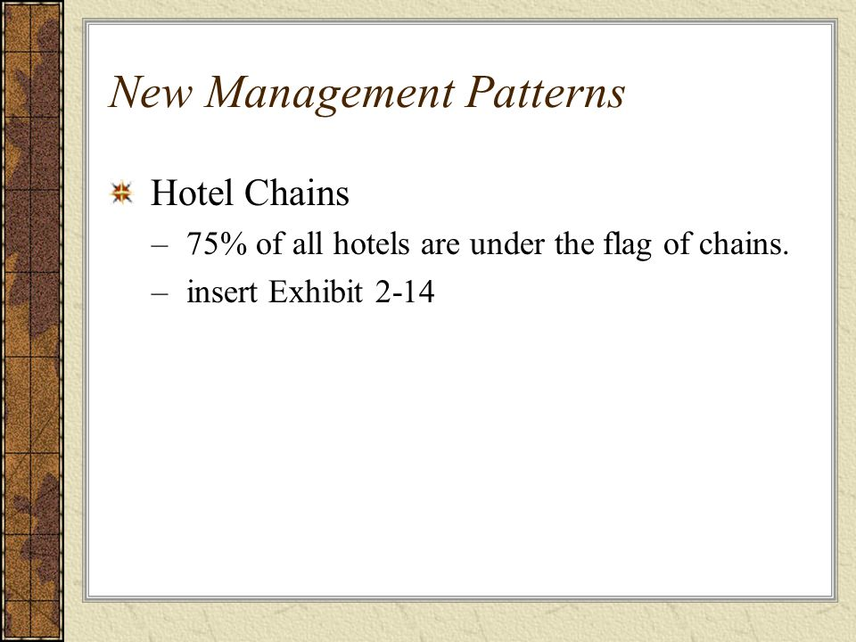 New Management Patterns