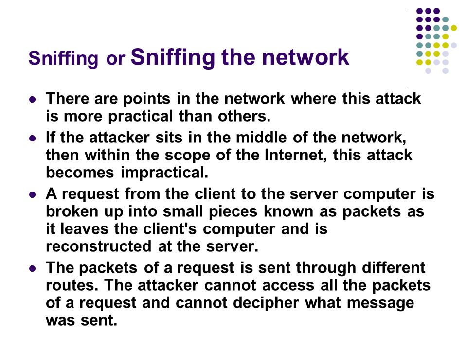 Sniffing or Sniffing the network