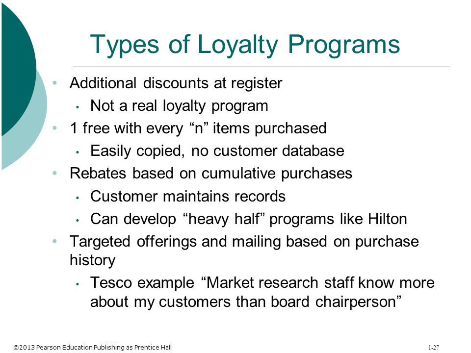 Types of Loyalty Programs