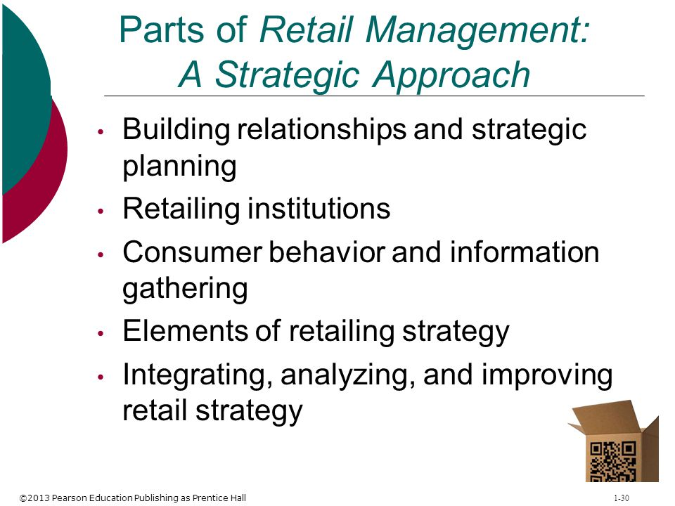 Parts of Retail Management: A Strategic Approach