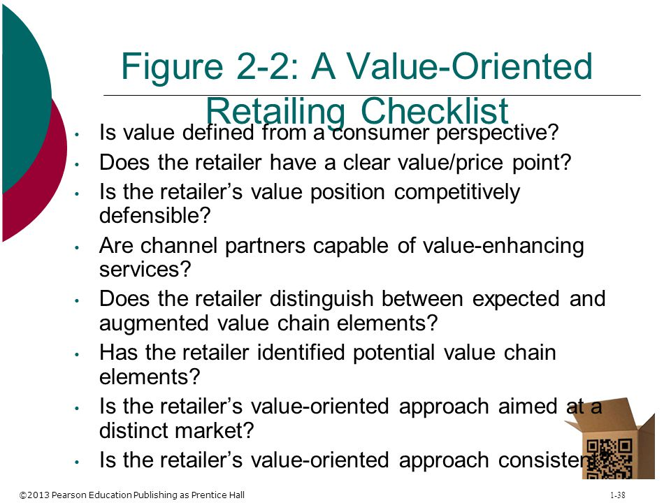 Figure 2-2: A Value-Oriented Retailing Checklist