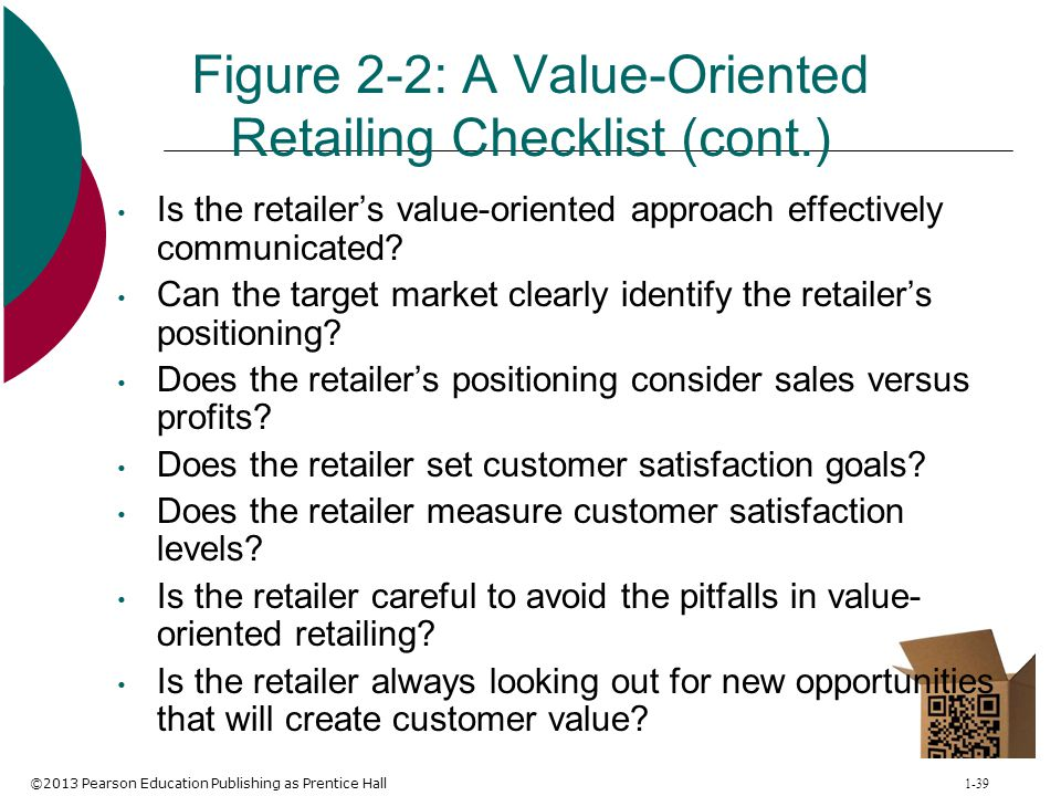Figure 2-2: A Value-Oriented Retailing Checklist (cont.)