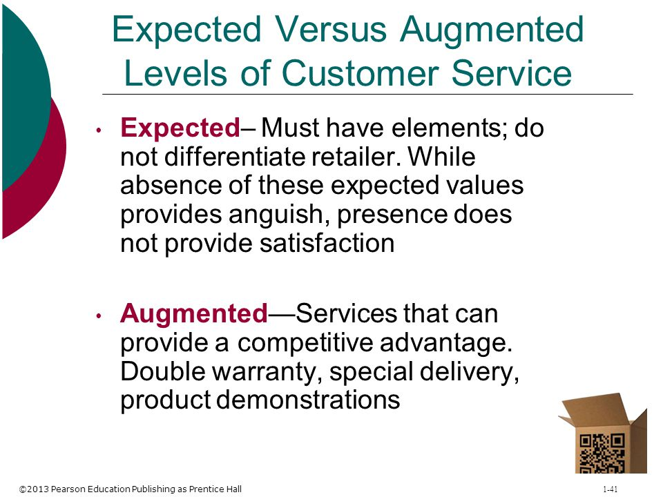 Expected Versus Augmented Levels of Customer Service