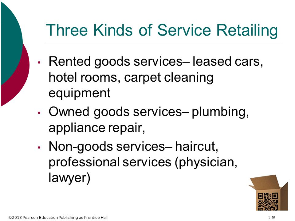 Three Kinds of Service Retailing