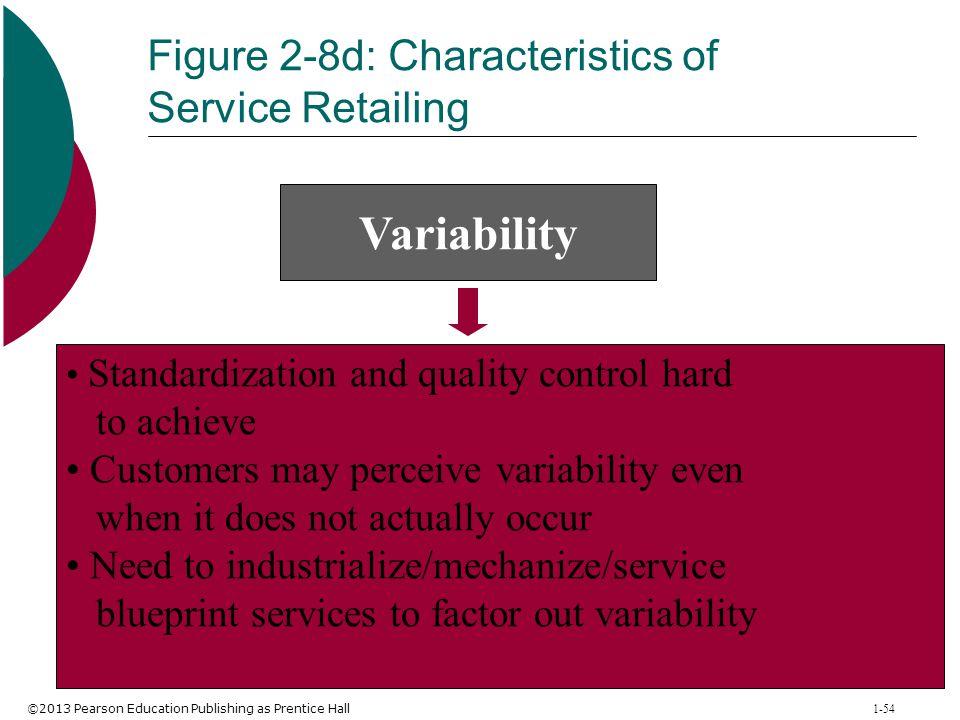 Figure 2-8d: Characteristics of Service Retailing