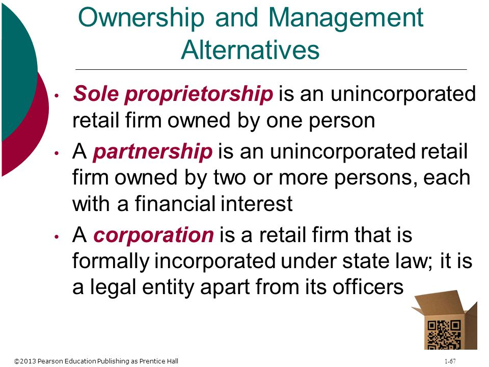 Ownership and Management Alternatives