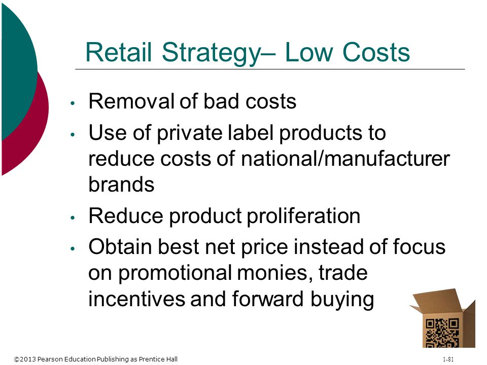 Retail Strategy– Low Costs