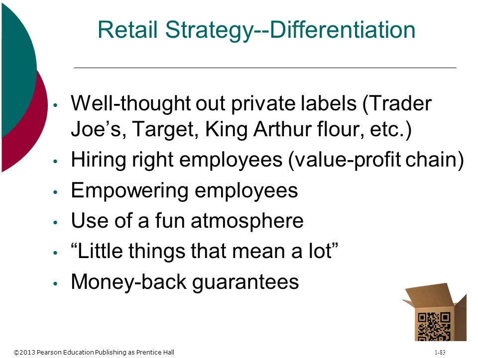 Retail Strategy--Differentiation