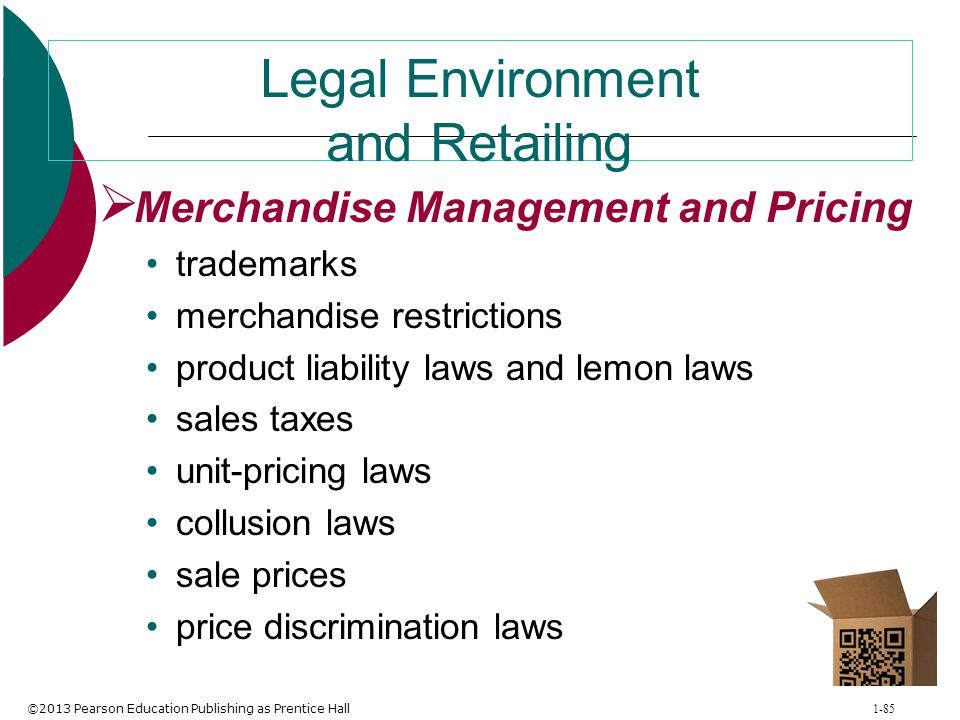 Legal Environment and Retailing