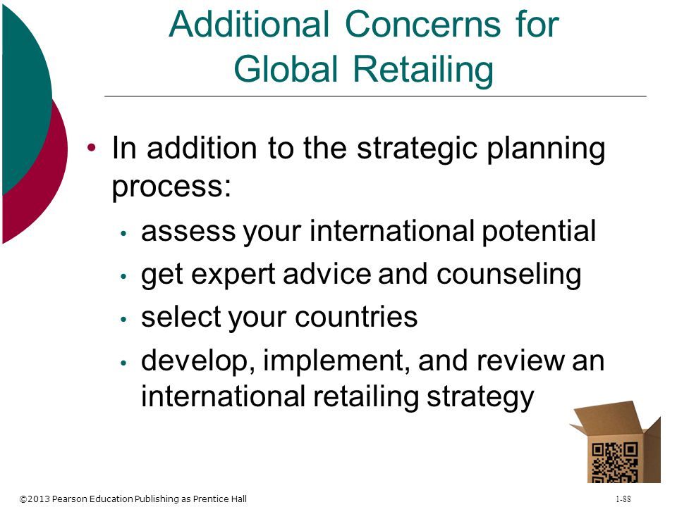 Additional Concerns for Global Retailing