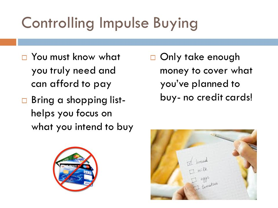 Controlling Impulse Buying
