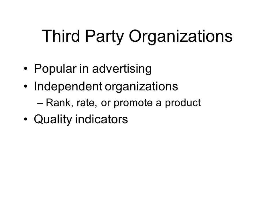 Third Party Organizations