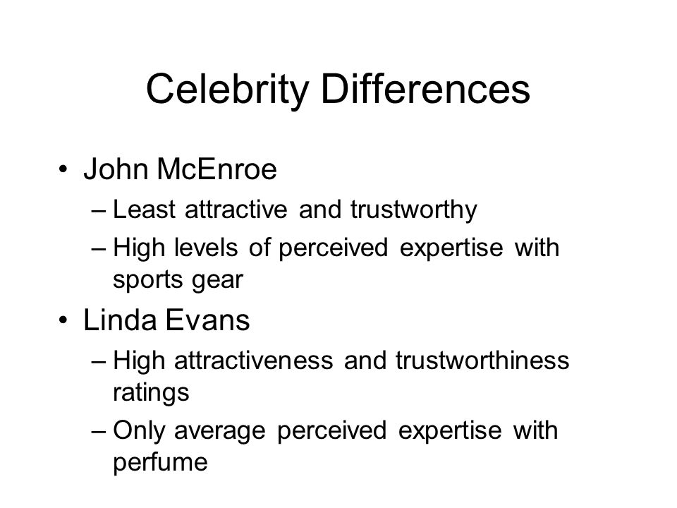 Celebrity Differences