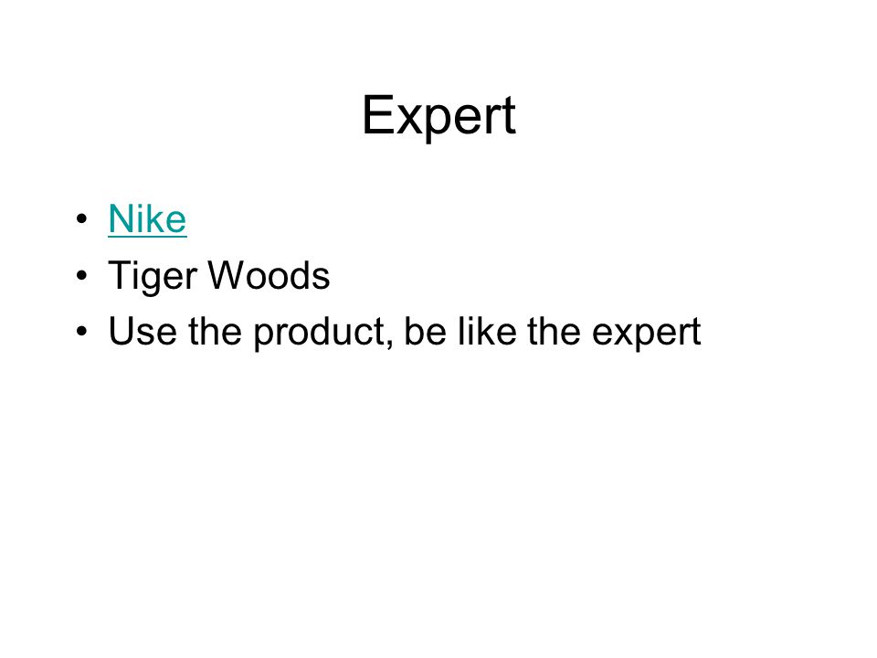 Expert Nike Tiger Woods Use the product, be like the expert