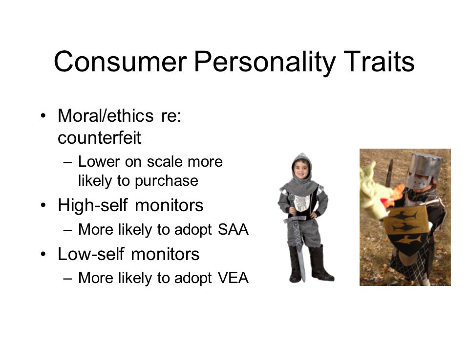 Consumer Personality Traits