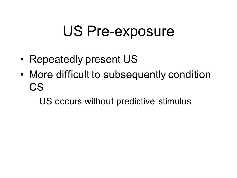 US Pre-exposure Repeatedly present US
