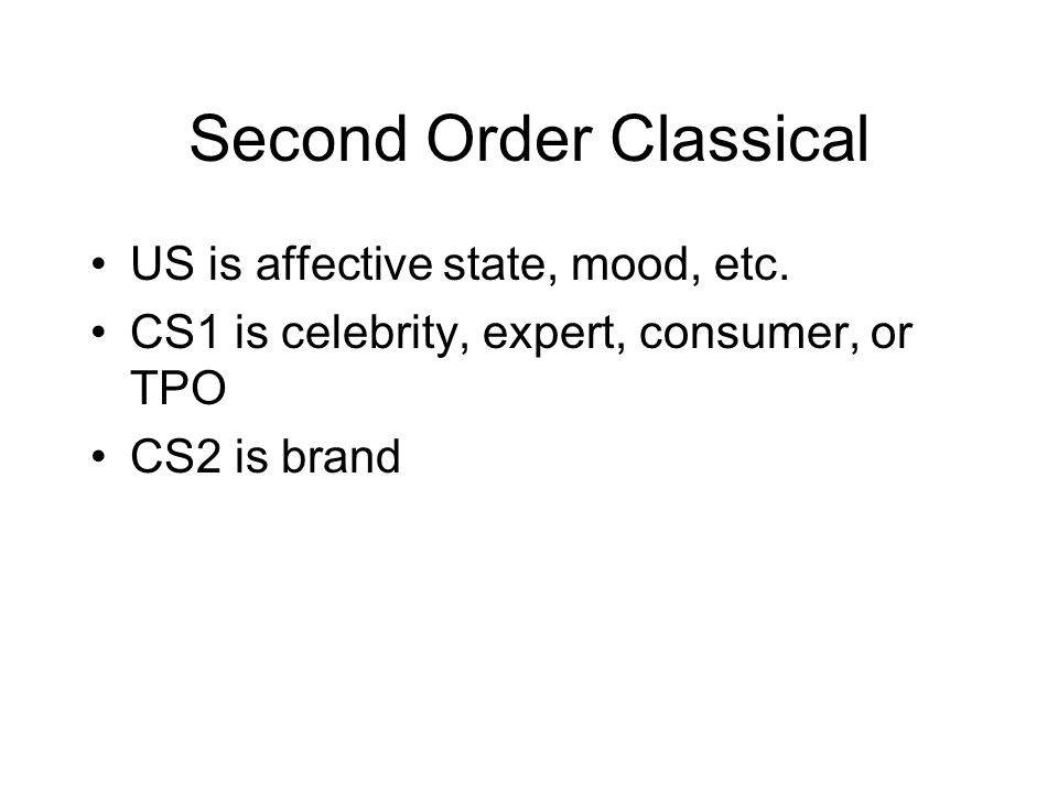 Second Order Classical