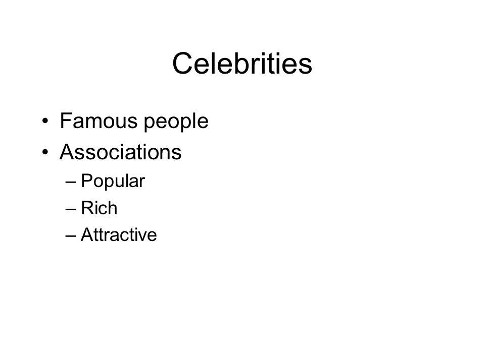 Celebrities Famous people Associations Popular Rich Attractive